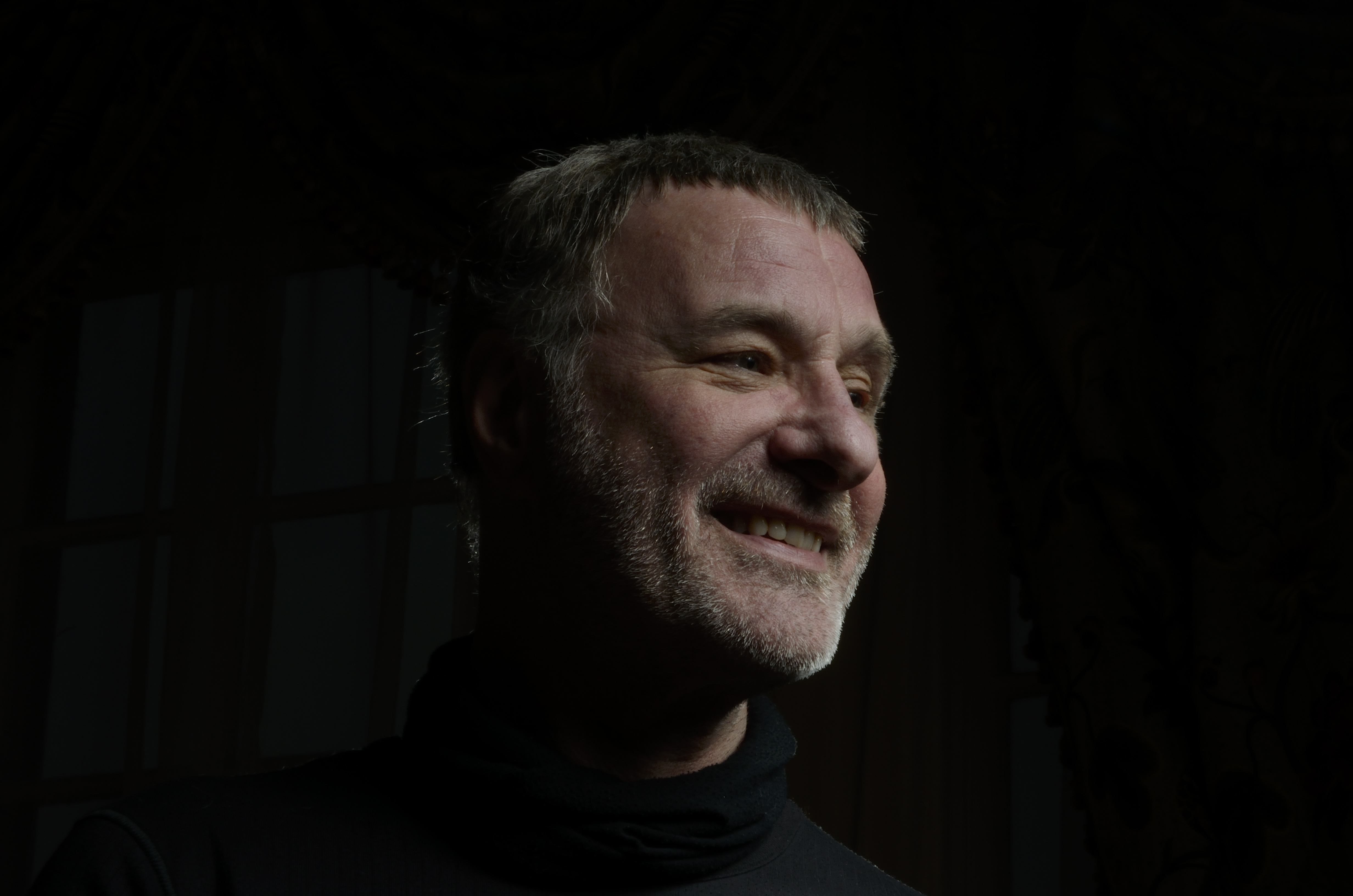 Photo of Steve Harley, man with grey beard
