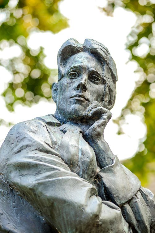 Statue of war poet Rupert Brooke